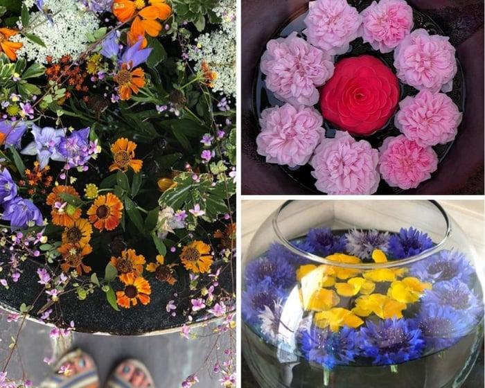 Floating Flower Arrangements