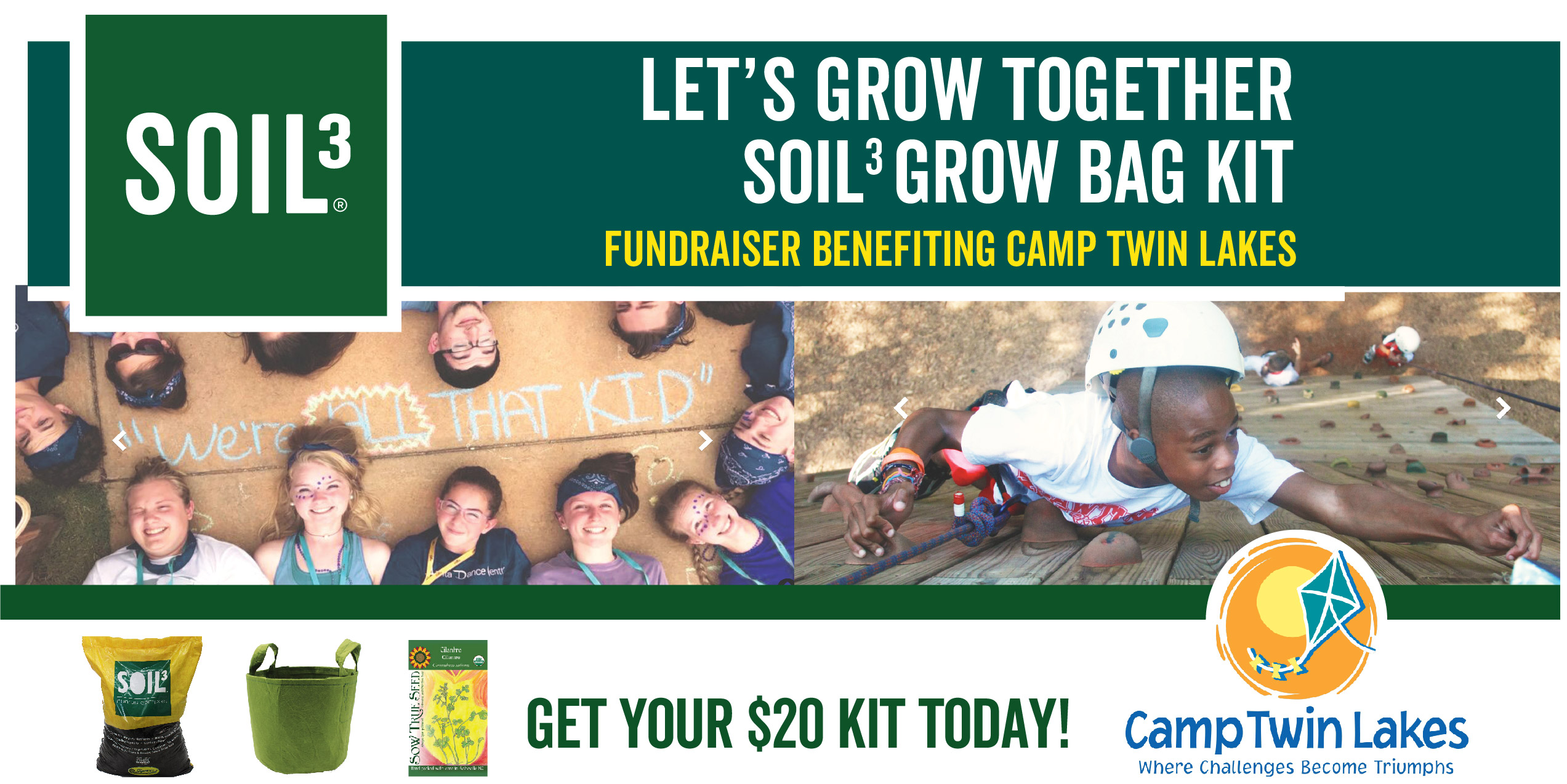 Let's Grow Together Soil3 Grow Bag Kit