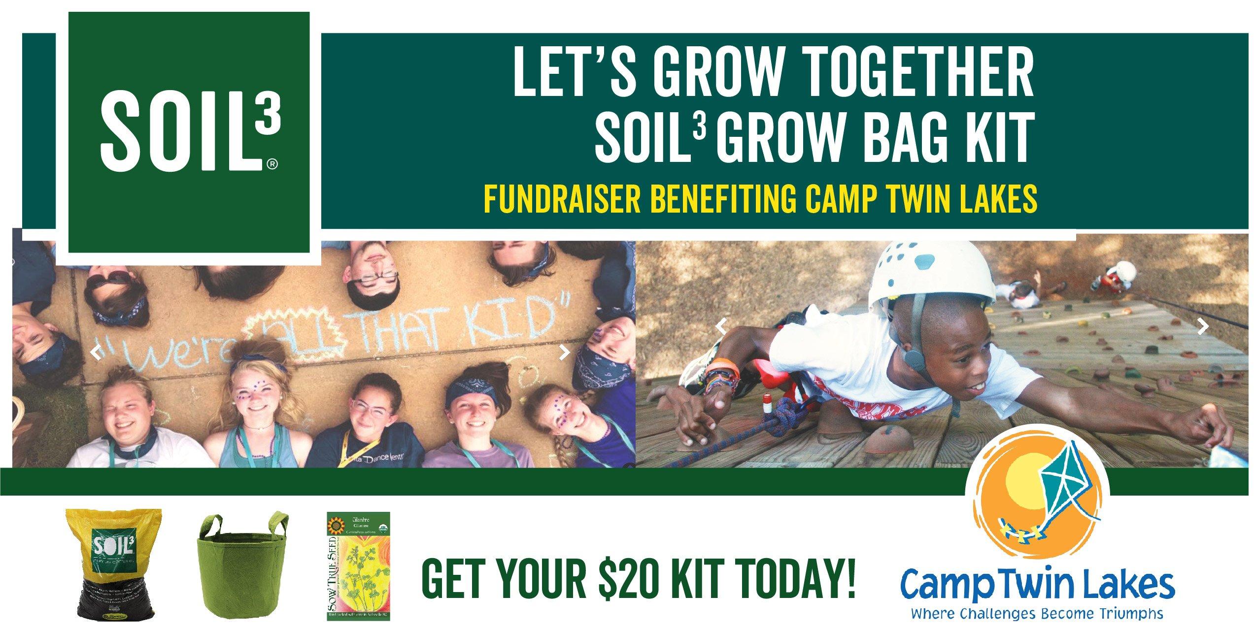 Let's Grow Together Soil3 Grow Bag Kit