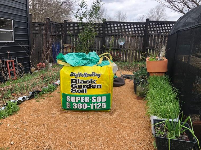 Soil3 BigYellowBag in my new work area