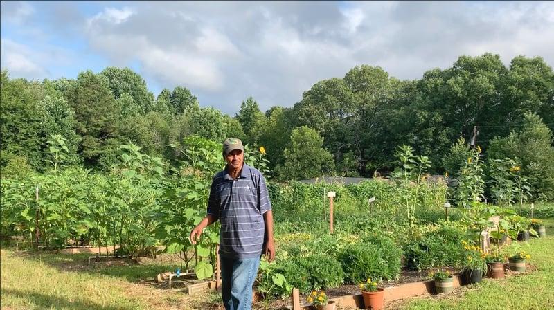 Robert and his Garden