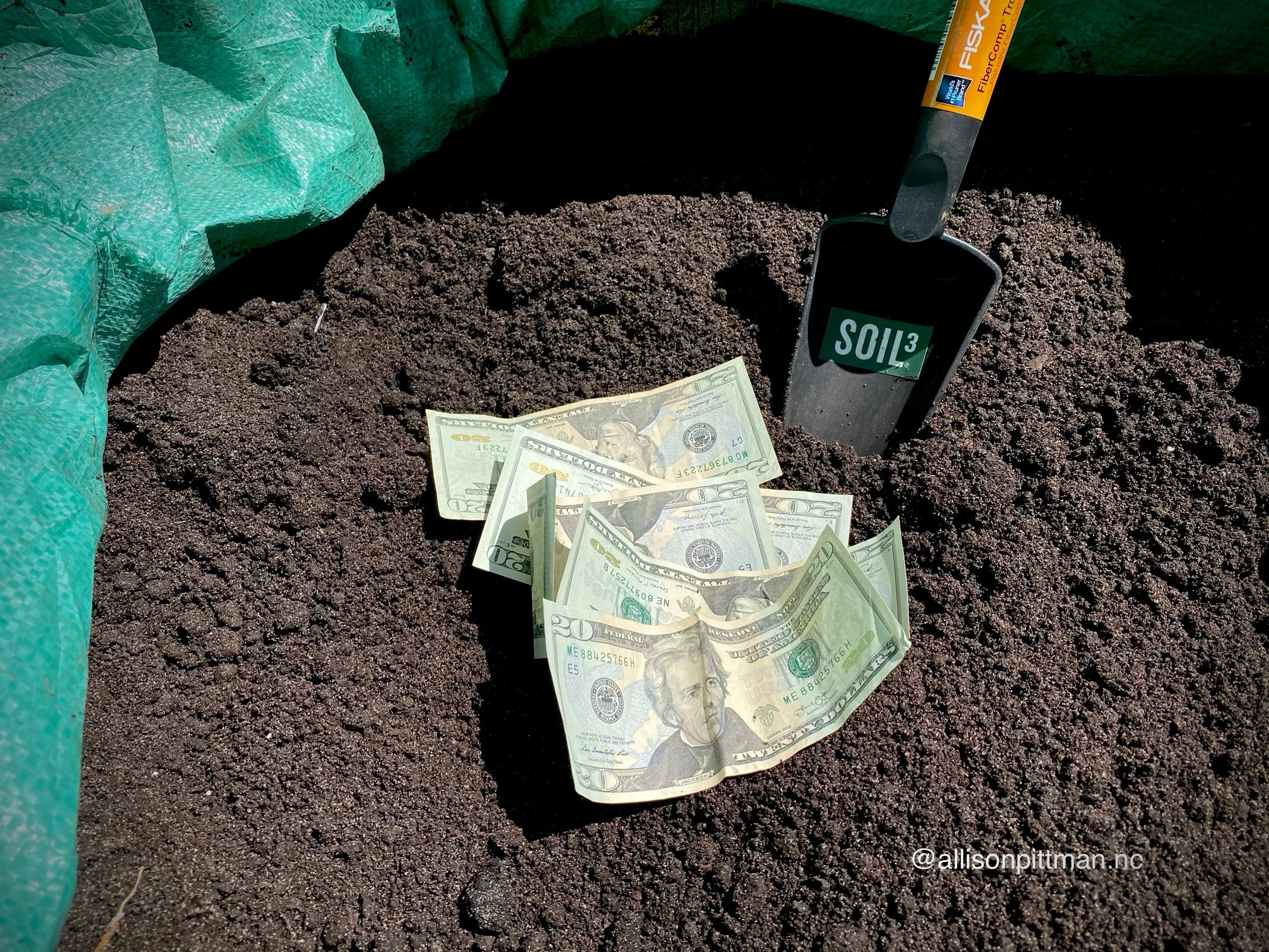 Adding Soil3 to the garden is like making a deposit into a banking account