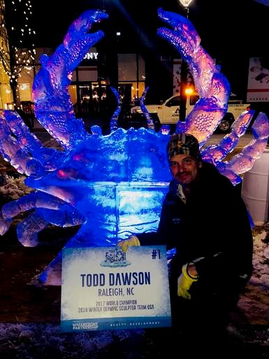 Todd Dawson champion ice sculpture