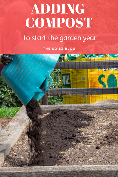 add compost to start the garden year