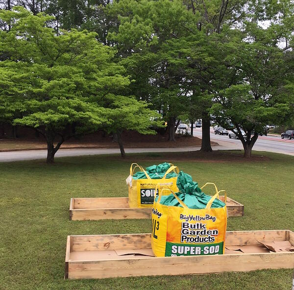 new raised beds with BigYellowBags