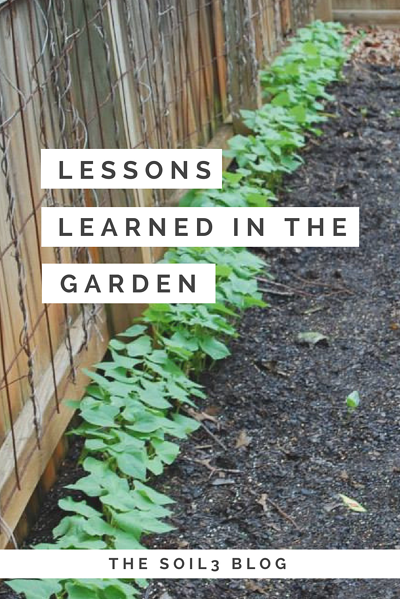 lessons learned in the garden