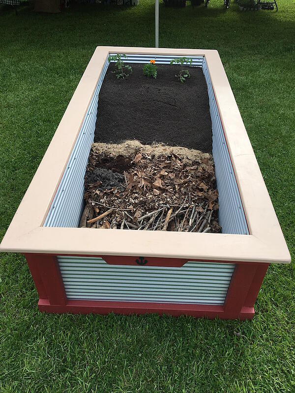 mike arnold hugelkultur raised bed garden popular vote winner