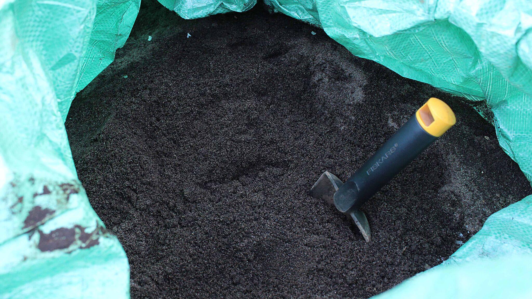 Soil3 organic humus compost ready for application
