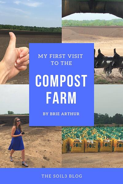 Brie Arthur first visit to the compost farm